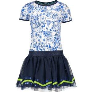 B.NOSY meisjes jurk delfts blue