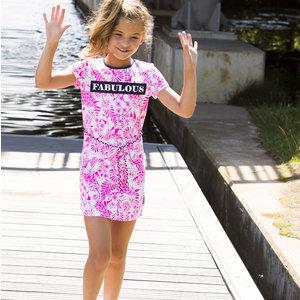 B.NOSY meisjes jurk delfts pink