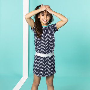 B.NOSY meisjes jurk check it out space blue