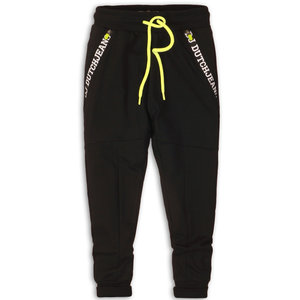 DJ DUTCHJEANS jongens joggingbroek black stay true stay wild