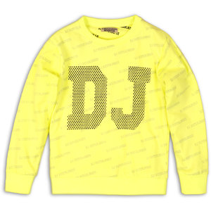 DJ DUTCHJEANS jongens trui neon yellow aop stay true stay wild