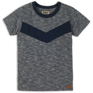 DJ DUTCHJEANS jongens t-shirt navy melange beach co