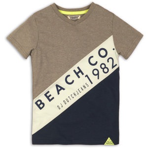 DJ DUTCHJEANS jongens t-shirt faded army green mint navy beach co