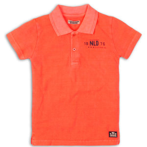 DJ DUTCHJEANS jongens polo shirt bright coral next generation