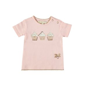 LE CHIC meisjes t-shirt pretty in pink cupcakes