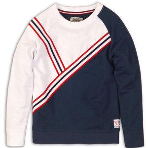 DJ DUTCHJEANS jongens sweater navy white dj athletic
