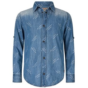 RETOUR DENIM DE LUXE jongens overhemd medium blue denim erwin