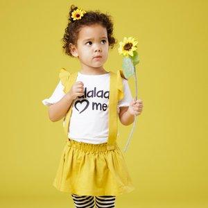 BEEBIELOVE meisjes rok yellow