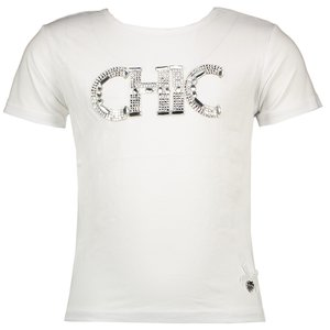 LE CHIC meisjes t-shirt white chic
