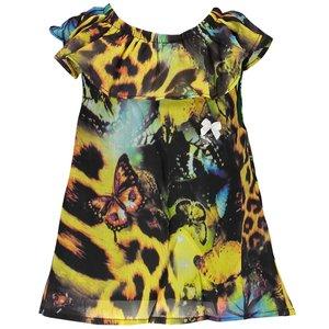 LE CHIC meisjes top green victory leopard