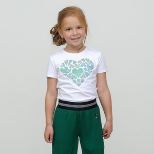 LE CHIC meisjes t-shirt green victory