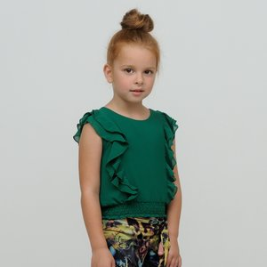 LE CHIC meisjes top green victory