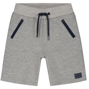 LEVV jongens korte broek light grey melee gylano