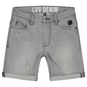 LEVV jongens korte broek grey denim friso