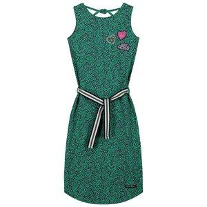 Quapi meisjes jurk jungle green leopard alley