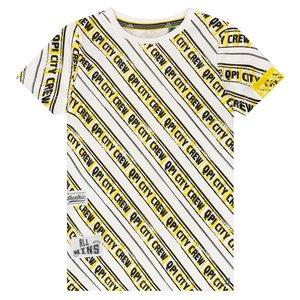 Quapi jongens t-shirt empire yellow stripe adam