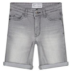 Quapi jongens korte jeans broek light grey arjan
