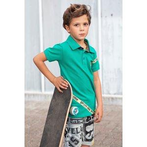Quapi jongens polo emerald amon