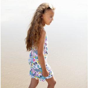MOODSTREET meisjes jurk turquoise