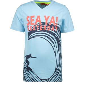 TYGO & VITO jongens t-shirt light blue see ya
