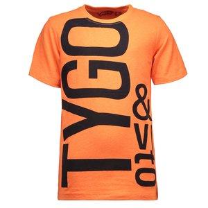 TYGO & VITO jongens t-shirt shocking orange