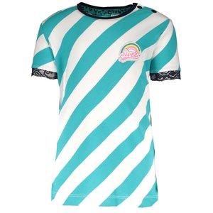 B.NOSY meisjes t-shirt ceramic stripe