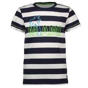 B.NOSY jongens t-shirt big stripe blue