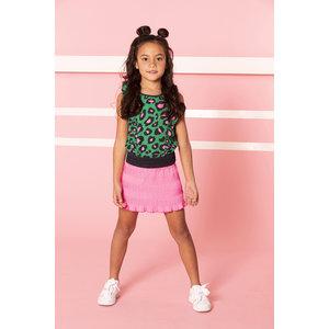 B.NOSY B.NOSY meisjes jurk jade leopard