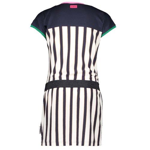 B.NOSY B.NOSY meisjes jurk oxford stripe