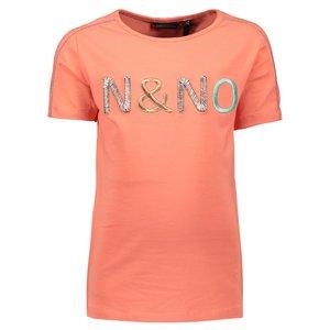 Nono meisjes t-shirt pink coral kusol