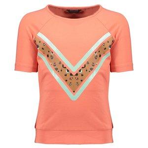 Nono meisjes t-shirt pink coral kamou