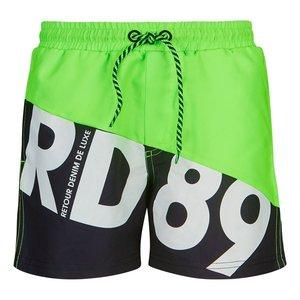 RETOUR DENIM DE LUXE jongens zwembroek neon green elmo