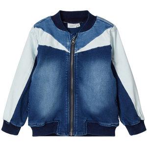 NAME IT jongens jas dark blue denim
