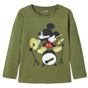 NAME IT jongens longsleeve mickey mouse loden green