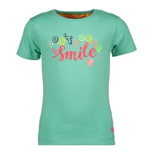 Kidz Art meisjes t-shirt mint don't forget to smile