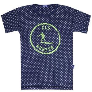CLAESEN'S jongens t-shirt navy white dots