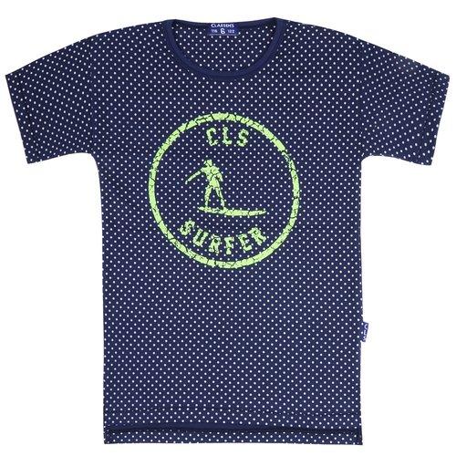 CLAESEN'S CLAESEN'S jongens t-shirt navy white dots