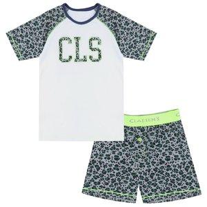 CLAESEN'S CLAESEN'S jongens pyjama set green leopard