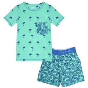 CLAESEN'S jongens pyjama set cobalt palmtree