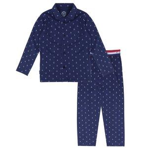CLAESEN'S jongens pyjama set white navy anchor