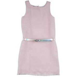 RUMBL meisjes jurk pink jacquard