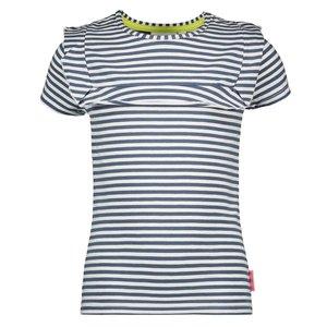 BAMPIDANO meisjes t-shirt blue stripe