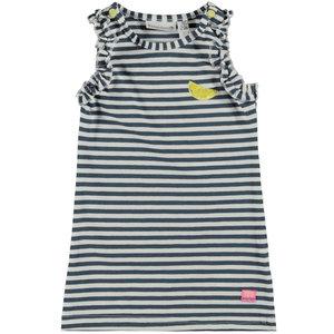 BAMPIDANO meisjes jurk blue stripe