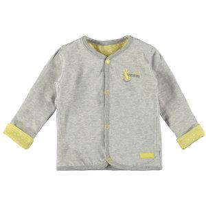 BAMPIDANO jongens vest reversible grey melee stripe