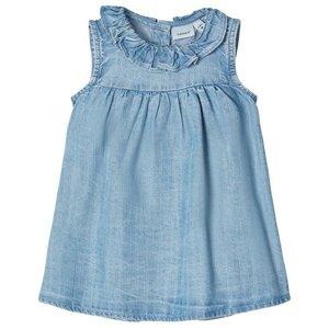 NAME IT meisjes jurk light blue denim