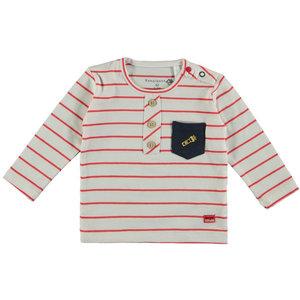 BAMPIDANO jongens longsleeve red stripe