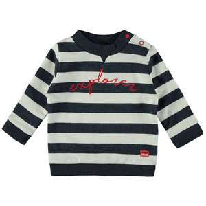 BAMPIDANO jongens trui stripe navy