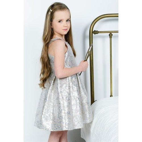 RUMBL RUMBL ROYAL meisjes jurk lurex stripe