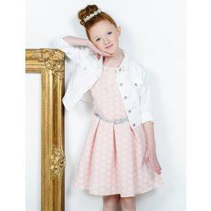 RUMBL meisjes jurk peach dots