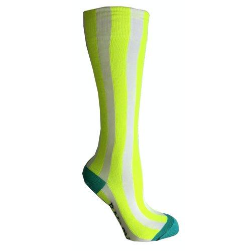B.NOSY B.NOSY meisjes sokken safety yellow stripe